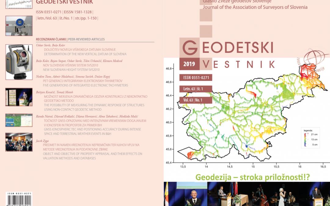 The new issue of Geodetski vestnik