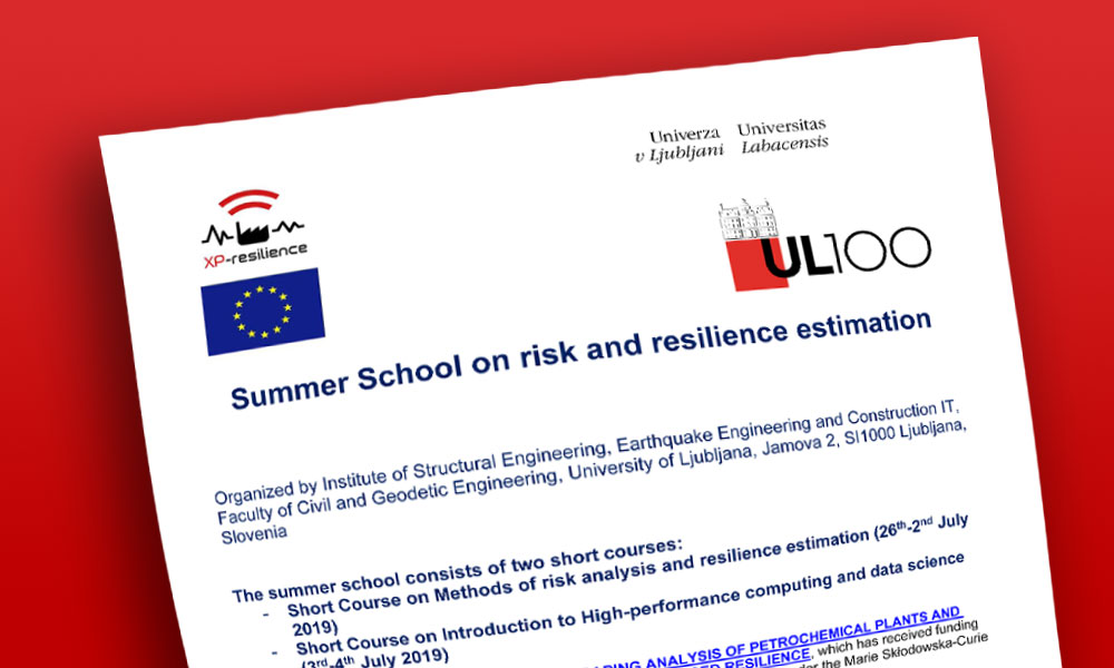 Summer School on risk and resilience estimation