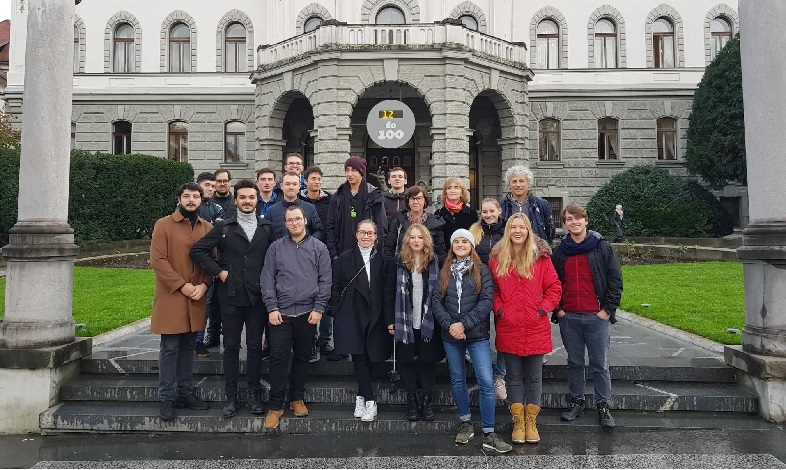 Guided tour in oldtown Ljubljana for exchange students