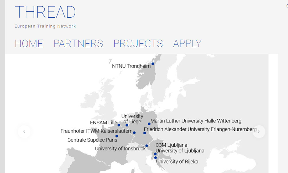 Announcement of an Early Stage Researcher position within the MSCA THREAD project