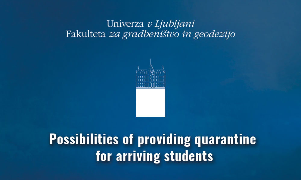 Information for foreign students – possibilities of providing quarantine for arriving students
