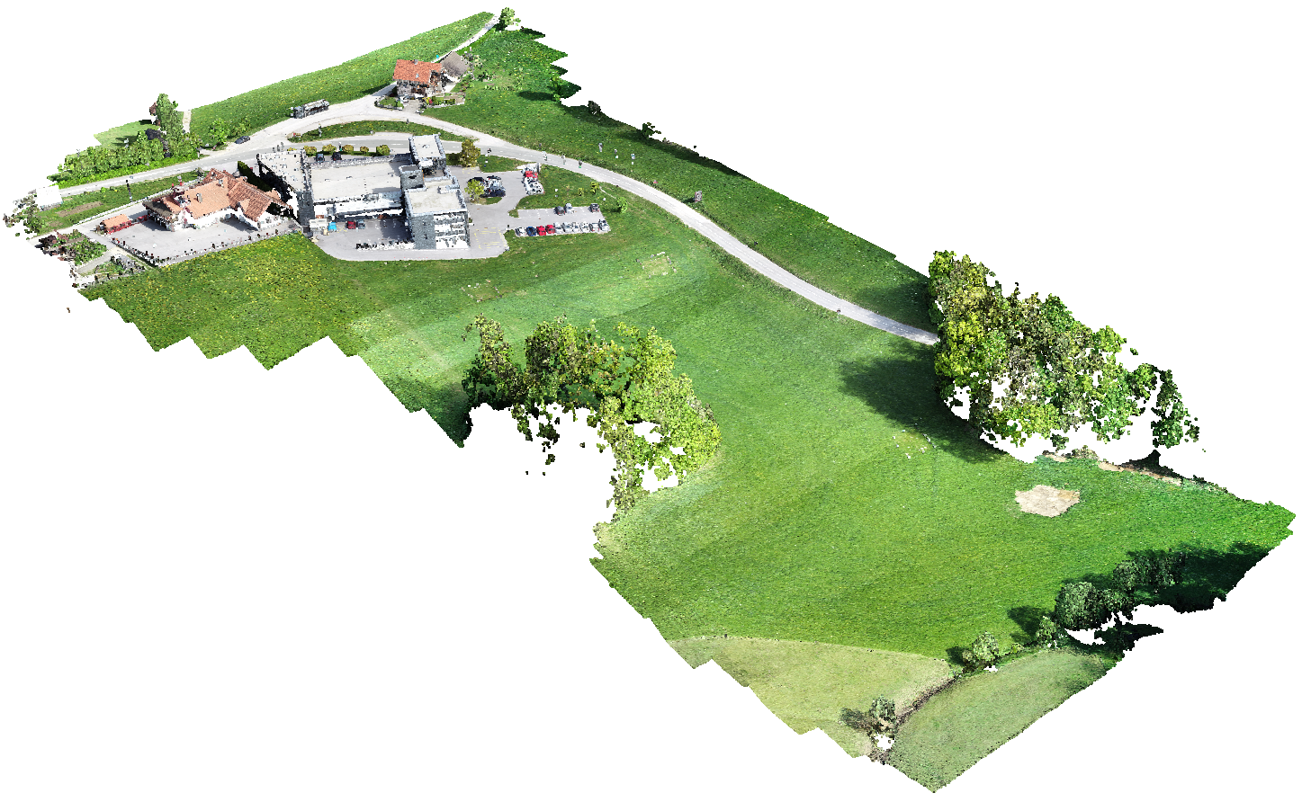 The study area of Kandrše – a georeferenced UAV point cloud.